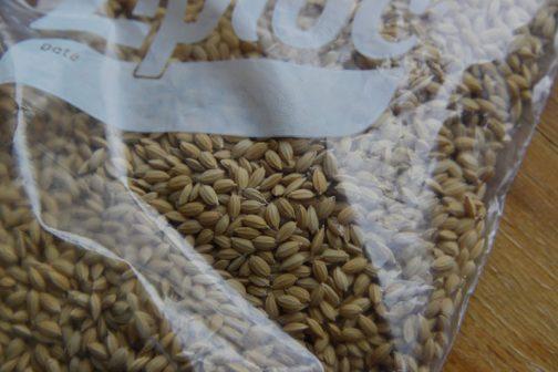 そして一番小さな粒。とてもきれいに揃って美しい種籾、今回はかってみるコシヒカリです。