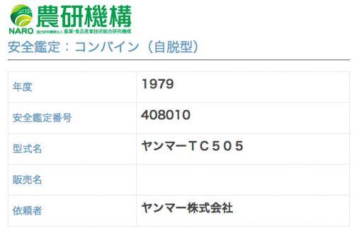 農研機構のサイトには1979年度登録と出ています。